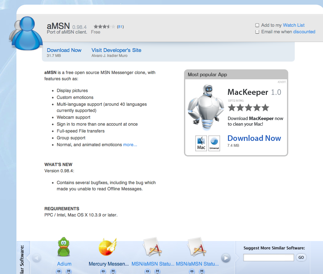 amsn pour mac 2011