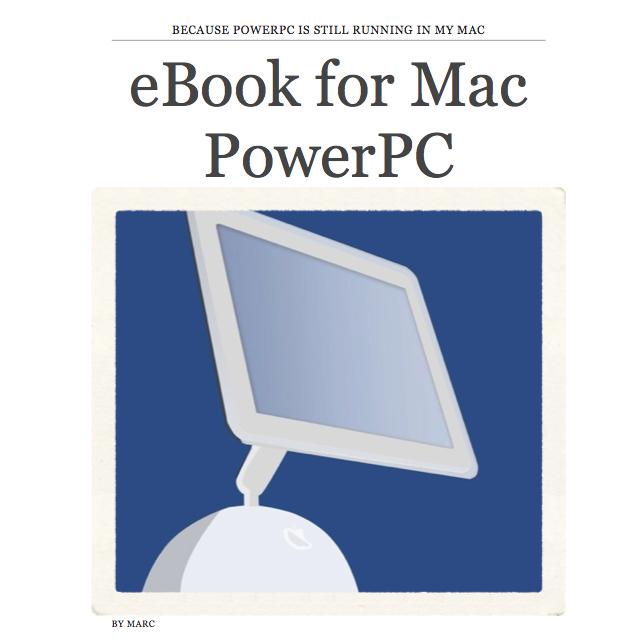 eBook for Mac PowerPC + PowerPC U | MAC POWERPC 